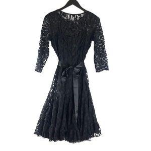 Rickie Freeman For Teri Jon Lace Pintuck Dress